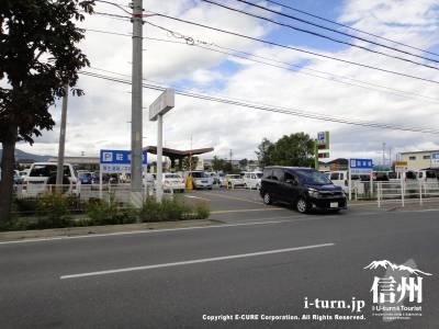 篠ノ井総合病院の駐車場
