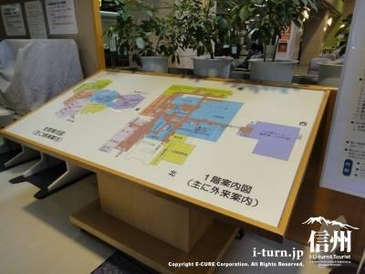 篠ノ井総合病院の1階案内図 外来案内
