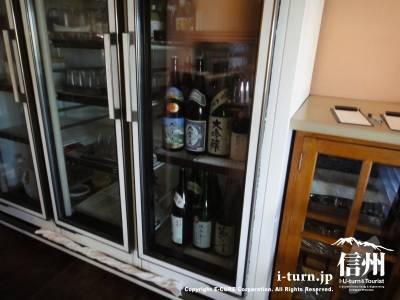 冷蔵庫に入った日本酒