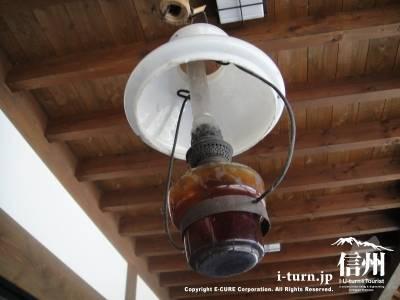 かやぶきの館にあった灯油ランプ