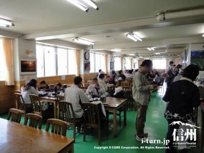 千畳敷のレストランというか食堂の風景
