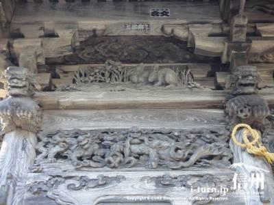 裕明門左側の彫刻