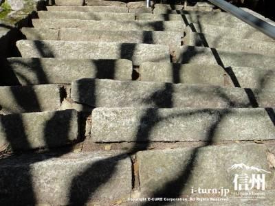 バランス感覚が必要な階段