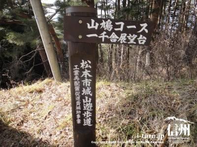 散策道の看板