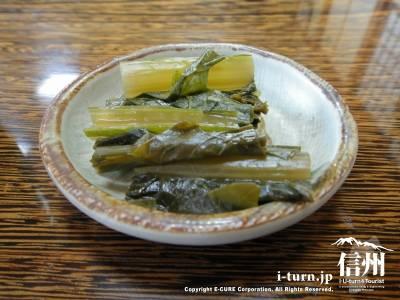 野沢菜のアップ