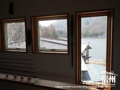 窓から木崎湖