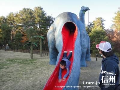 ブロントサウルスの尻尾も滑り台