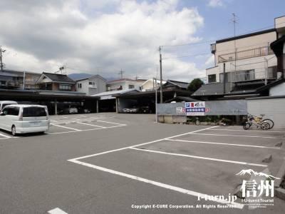 広いスペースの駐車場