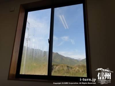 窓の外にはすばらしい景色