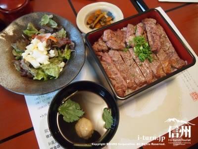 ステーキ重US牛リブロース1580円