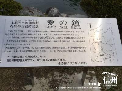 愛の鐘説明看板