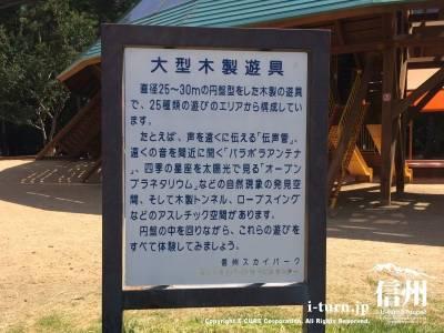 大型木製遊具の説明看板