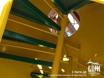 上に登れる螺旋階段