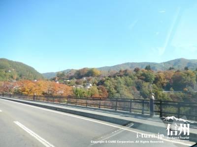 橋の上から景色を眺めることができましたが紅葉が始まっていてきれいでした