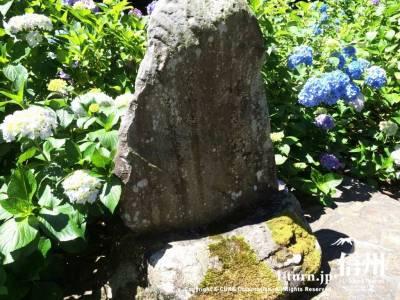 石碑に何やら書かれています