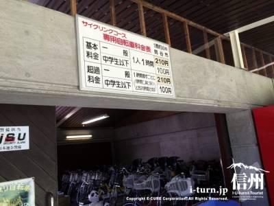 サイクリングコース専用自転車料金表