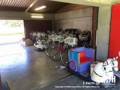 色々なタイプの自転車がありました