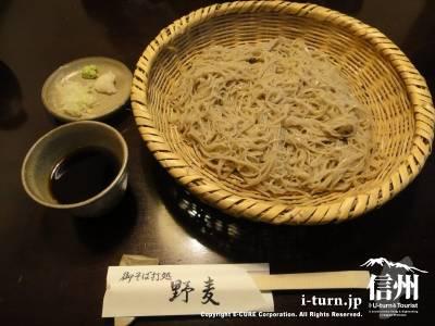 御そば打処 野麦|地元はもちろん、観光客にも人気の激細の9割そば|松本市中央