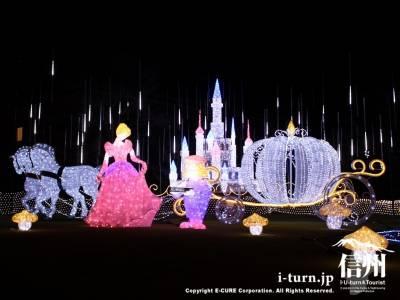 樫山工業株式会社のイルミネーション'11~'12|Cinderella Story ~ガラスのくつ~|佐久市根々井