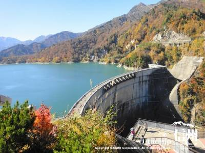 黒部ダム【1】|日本一のアーチ式ダムと紅葉|富山県中新川郡